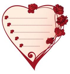 valentine frame vector image vector image