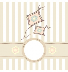 baby card with kite vector image vector image