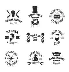 Barber shops symbols set vector image