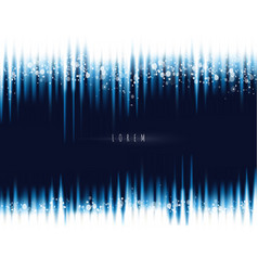 blue waves tape background with magic lights vector image vector image