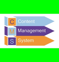 content management system arrows vector image vector image