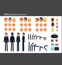 male character constructor for different poses vector image vector image