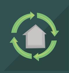 recycle symbol design vector image vector image
