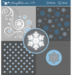 Snowflakes set 2 vector image vector image