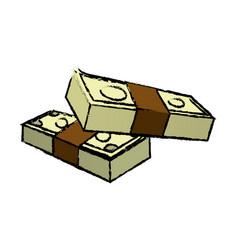 stack money banknote dollar cash icon vector image vector image