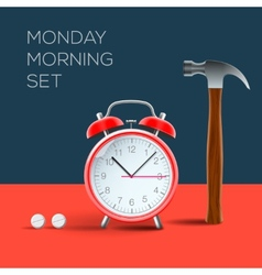 Concept - i hate monday morning vector