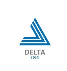 Delta logo sign vector image