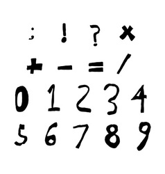 Hand drawn child English alphabet Black Bold vector image vector image