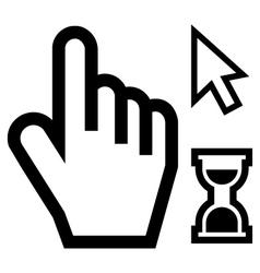 mouse cursor set vector image