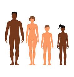multinational family man woman boy and girl human vector image vector image