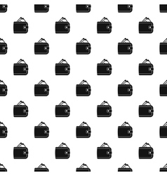 Purse with money pattern simple style vector image