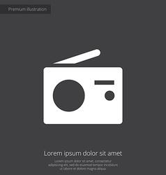 radio premium icon white on dark background vector image vector image