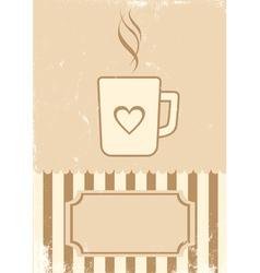 Retro of coffee vector image