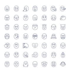 49 emoji icons vector