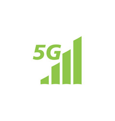 5g network icon design template isolated vector