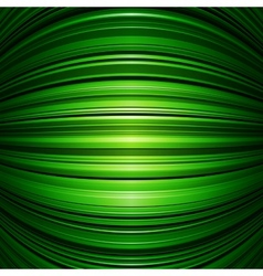 Abstract green warped stripes background vector image