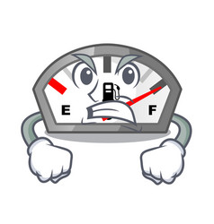 Angry cartoon gasoline indicator sticks to vector