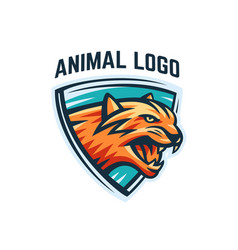 Animal logo on a white background vector