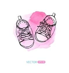 Baby sneakers vector