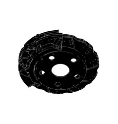 black brake disc vector image