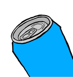 Blue can vector image