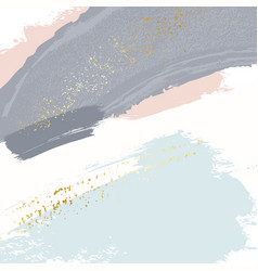 brush strokes in gentle pastel colors on a white vector image