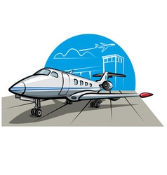 Business airplane vector