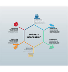 business infographic featuring six icons vector image
