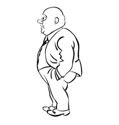 Business man standing with hand in his pockets vector