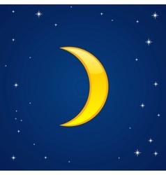 Cartoon glossy moon vector