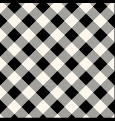 Checkered gingham fabric seamless pattern in blue vector