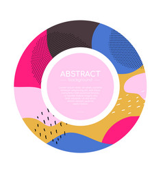 colorful round flyer - modern abstract vector image
