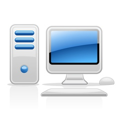 computer vector image vector image