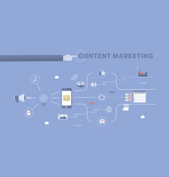 Content marketing background vector