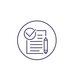 Contract line icon vector