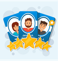 Customer review with five star rating vector
