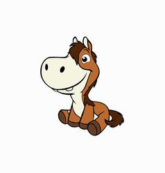 Cute little horse animal vector