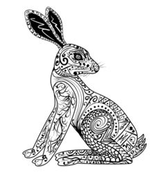 Decorative Rabbit Easter Bunny Hare vector
