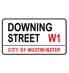 Downing street sign vector