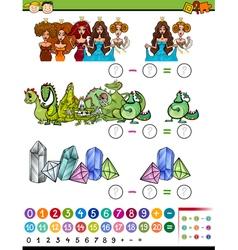 Educational game cartoon vector