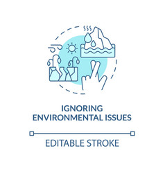 Environmental issue blue concept icon vector
