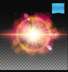 Explosion special effect over checkered gradient vector