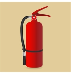 Fire extinguisher isolated on color background vector