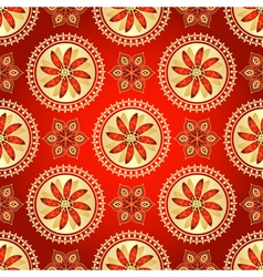 Floral dark red seamless pattern vector image