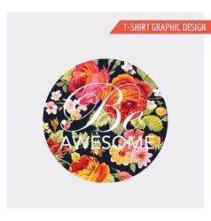 Floral shabchic graphic design vector