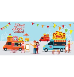 food truck street festival vector image