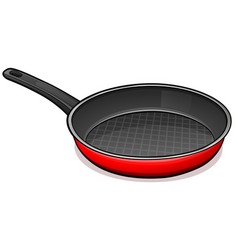 frying pan design concept vector image
