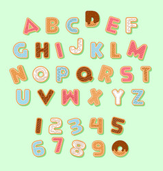 gingerbread christmas cookie alphabets pack vector image