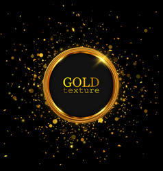 Gold glitter dust abstract luxury background vector