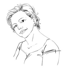 Hand-drawn of beautiful romantic vector